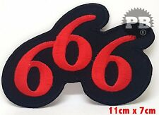 #506 666 Devil Horned One Iron/ Sew-on Embroidered Patch / Badge/ Logo UK Seller