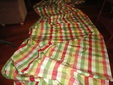 LONGEST WINDOW SCARF EVER ROSE TREE SUMMERTON ROSE GREEN MOIRE PLAID 346 X 53