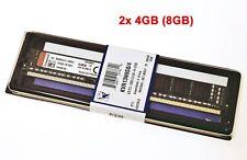 2x 4GB KINGSTON KVR13N9S8/4 VALUERAM PC3-10600U 1333MHZ CL9 NEW #718188