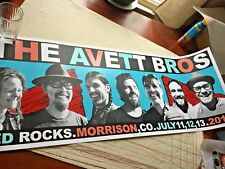 HUGE Avett Brothers SILK SCREEN SIGNED Poster RED ROCKS 2014 autographed by SETH