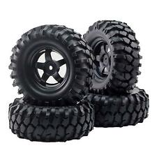4pcs 12mm Hub Wheel Rim & Tires  for 1/10 Off-Road RC Rock Crawler Buggy Truck