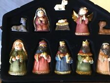 11 Piece Resin Nativity Set With Metal Creche