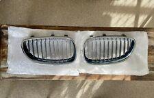BMW OEM GENUINE 5 SERIES E60 E61 Front Chrome Kidney Grill Set