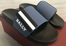 Bally Saxor 06 Blue Rubber Sandals size US 8 Made in Italy
