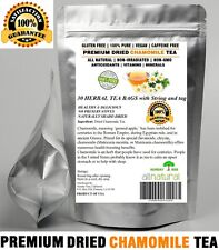 Chamomile Tea 30 Bags 100% Natural Premium Calming Tea Resealable Pouch