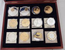 coffret collection trésor du patrimoine pièces monnaies 12 médailles histoire