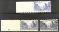 FRANCE #251-52 MInt NH - 1929-31 10fr La Rochelle