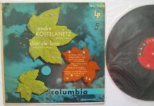 Clair de Lune Andre Kostelanetz & Orchestra LP Columbia CL798 MONO EX