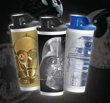 TUPPERWARE STAR WARS 3CPO R2D2 DARTH VADER TUMBLERS 16 OZ CLASSIC STRAIGHT NEW