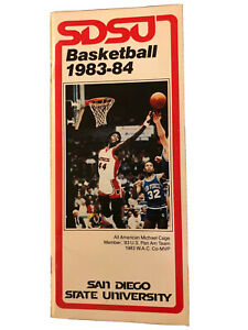 SDSU San Diego State Aztecs Basketball 1983-1984 Media Guide Michael Cage