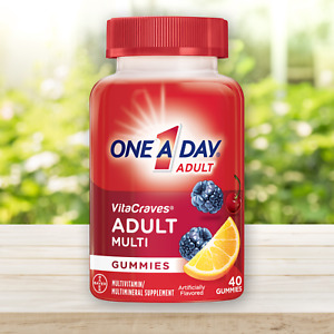 One A Day VitaCraves Adult Multi Gummy Multivitamin, 40 Gummies - EXP 10/2020