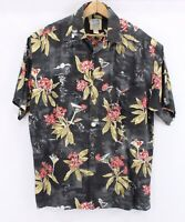 Kahala Pat Anderson It's Martini Time Shirt button down floral holidays Large