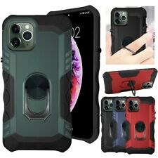 For iPhone 11 Pro Max Finger Ring Stand Shockproof Protective Rugged Case Cover