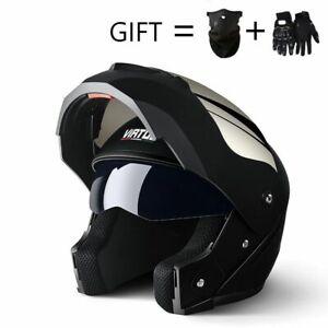 Modular Dual Lens Professional Racing Helmet Full Face Safe Casco Capacete Casqu