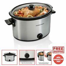 Slow Cooker 10 Quart Large Crock Pot Stoneware Kitchen Appliance New