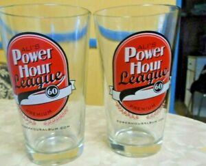"2 ALI""S Power Hour League 60 Premium Beer Glasses"
