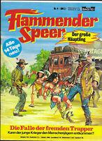 Flammender Speer Nr.4 von 1979 mit Poster - TOP Z0-1 BASTEI WESTERN COMICHEFT