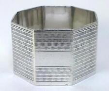 Vintage hallmarked Sterling Silver Napkin Ring (not inscribed) – 1942  (34g) -1