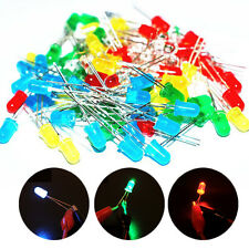 3mm DIY LED Diode Light White Yellow Red Green Blue Color Assorted Kit 100PC/set