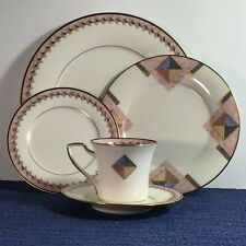 Noritake Momentum 5-piece Dinner Place Setting 7734, Pink Gold 1990 discontinued