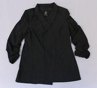 Boom Boom Jeans Women's Ruched Sleeve Blazer SV3 Black Large