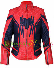 New Spider-Man Homecoming Movie Genuine Real Leather Jacket With Free Shipping.
