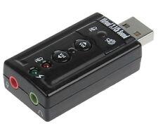 TechByte USB to 3D Audio Sound Card 7.1 Virtual Channel Sound (TT)
