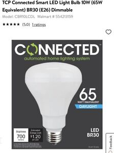 New Lot Of 20- TCP CBR10LC 10W Smart LED(65 Watt Equivalent)Connected BR30