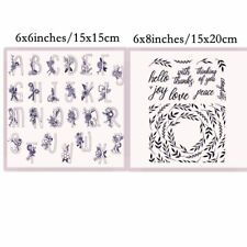 Alphabets Branches Transparent Clear Silicone Stamp/Seal DIY scrapbooking Crafts