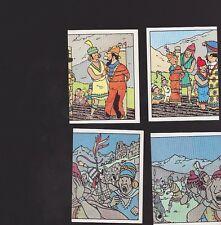 Herge Tintin Panini 1989 autocollants 211 212 213 214