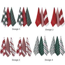 Set of 6 - Ladelle Christmas Brick 100% Cotton Kitchen Tea towels - 4 Designs