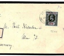 W117b Antigua KEVII 2s/6d Registered 1913 Cover High Values {samwell-covers}