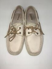 SPERRY TOP-SIDER Women's Angel Fish Caning Woven 2 Eye Boat Shoes SZ 8