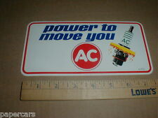 AC delco vintage Spark Plugs drag racing speed shop original new sticker Decal