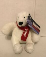 "Coca Cola Polar Bear Red Scarf Nwt Plush 7"" Stuffed Animal Plush 2007 Best Play"