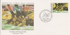 W63 1-1 Isole Marshall FDC COVER 1993 Sbarco a BOUGAINVILLE 1943