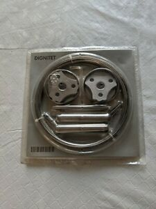"""IKEA Dignitet Curtain Wire NEW 600.752.95 Stainless Steel 5m/197"""" Multipurpose"""