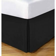 "Lux Impress 100% Egyptian Cotton Bed Skirt Drop 15"" ~ Black Twin XL 39 x 80 NEW"