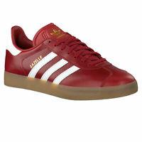 Adidas Originals Gazelle Leather Red/White/Gum Trainers Size UK 5