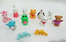 3-D Shaped+Mini Zoo Animal+Erasers+An Assortment Of 12