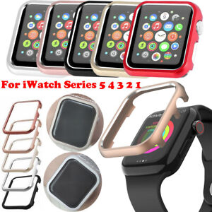 For iWatch Series 6 5 4 3 2 Metal Protective Case Watch Cover Bumper Frame Shell