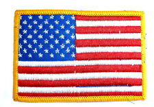 USA STARS & STRIPES CLOTH BADGE iron on US patch bag jacket America flag colour