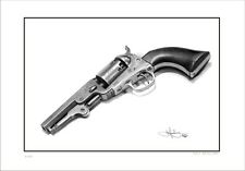 31  CALIBRE  COLT  REVOLVER    DRAWING      LIMITED EDITION  PRINT