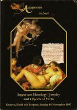 ANTIQUORUM Love Symbolism Collection Watch Jewels Vertu Auction Catalog 1997