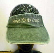 MOAB UT DAILY GRIND Washed 2-Color Headband Sun VISOR Sports Hat OLIVE/TAN