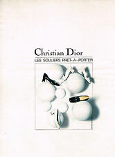PUBLICITE ADVERTISING  1965   CHRISTIAN  DIOR  chaussures