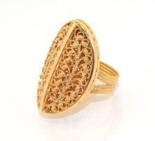 Technibond Filigree Ring 14K Gold Clad Silver Size 9