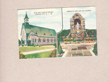 Vintage Postcard Our Lady Star Of The Sea Shrine Of Our Lourdes Atlantic CIty NJ