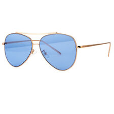 CLASSIC AVIATOR SUNGLASSES RED BLUE TINTED LENS SILVER ALL METAL FRAME