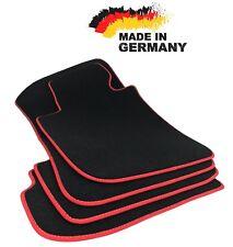Premium Fußmatten BMW E90 E91 SCHWARZ Hochwertig Velours Rot Original Qualität